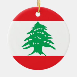 Ornament with flag of Lebanon