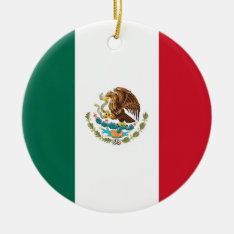 Ornament With Flag Of Mexico at Zazzle