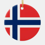 Ornament with flag of Norway