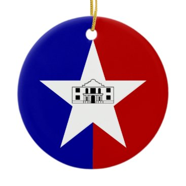 Ornament with flag of San Antonio, USA
