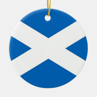 Ornament with flag of Scotland