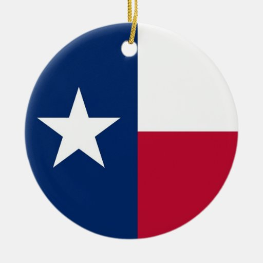 Ornament with flag of Texas