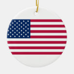 Ornament with flag of United States