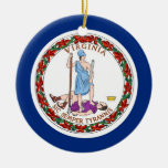 Ornament with flag of Virginia
