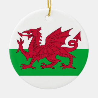Ornament with flag of Wales