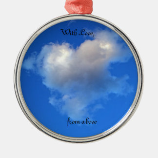 Ornament with heart shaped cloud - Remembrance