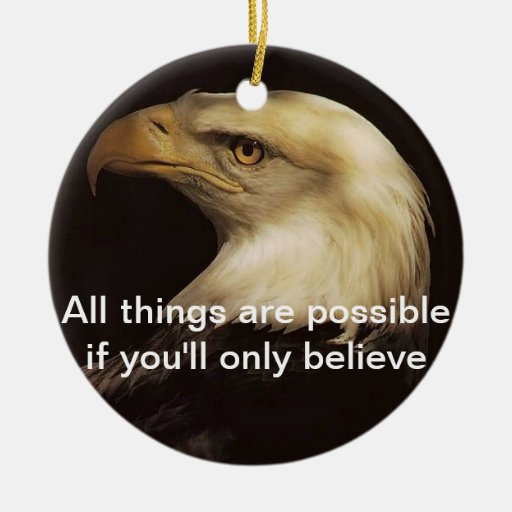 Ornament with positive thought