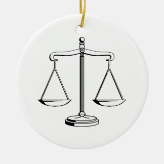 Ornament with Scales of Justice