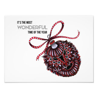 Ornament with Text Art Photo