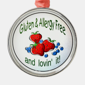 Ornament with the Gluten and Allergy Free logo