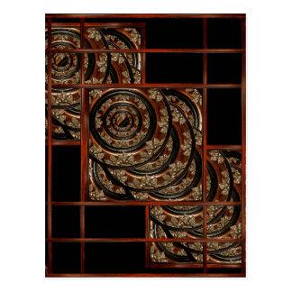Ornament Wood Composition Postcard