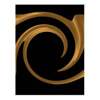 Ornamentación de oro postal