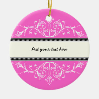Ornamental border pink white ornament