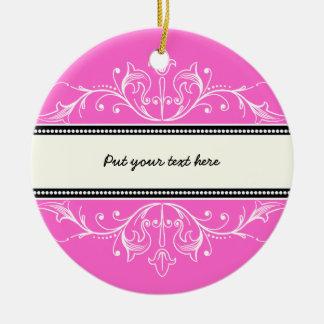 Ornamental border pink white ornament