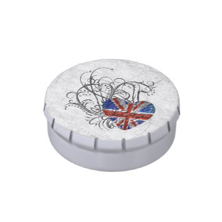 Ornamental British Flag Jelly Belly Tins