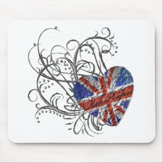 Ornamental British Flag Mouse Pad
