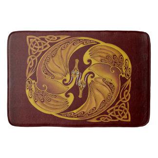 Ornamental Celtic Dragons Bath Mat