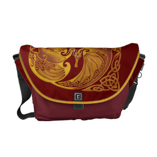 Ornamental Celtic Dragons Messenger Bag