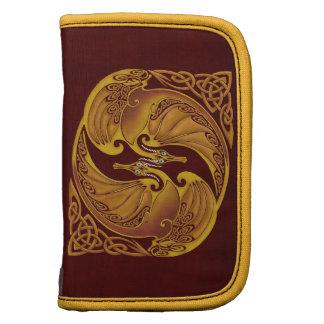 Ornamental Celtic Dragons Folio Planners