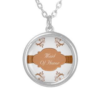 Ornamental Copper & White Silver Plated Necklace