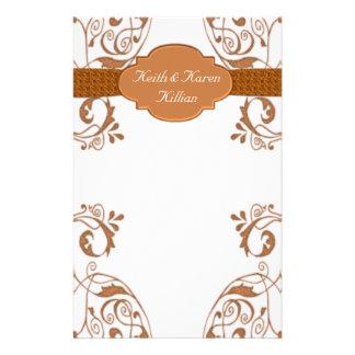 Ornamental Copper & White Stationery