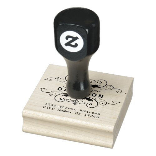 Ornamental Create Your Own Return Address Rubber Stamp