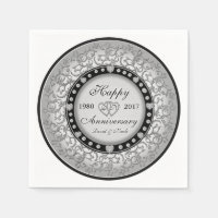 Ornamental Custom Anniversary Paper Napkin