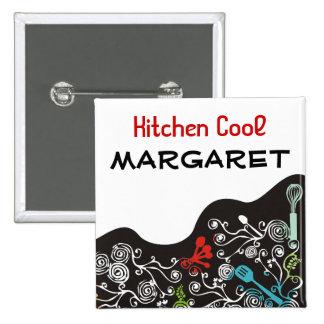 ornamental decorative kitchen utensils name tag pinback buttons