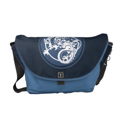 Ornamental Dragon Courier Bag