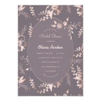 Ornamental Flowers Frame Elegant Bridal Shower Invitation