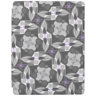 Ornamental Grey With Purple iPad Cover