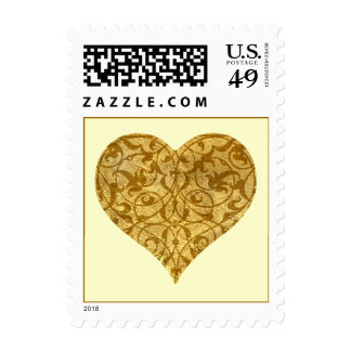 Ornamental Heart Postage Stamps