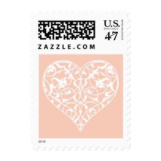 Ornamental Heart Postage Stamp
