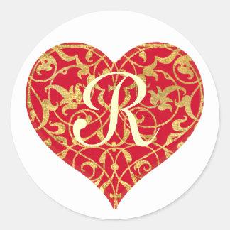 Ornamental Heart Stickers