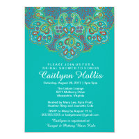 Ornamental Hindu Inspired Mandala Bridal Shower Invitation
