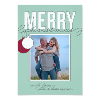 Ornamental Holiday Photo Card