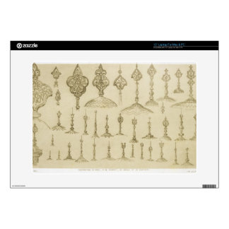 """Ornamental knobs shaped as domes and minarets, fro 15"""" laptop skin"""