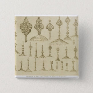 Ornamental knobs shaped as domes and minarets, fro button