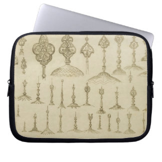 Ornamental knobs shaped as domes and minarets, fro laptop computer sleeve