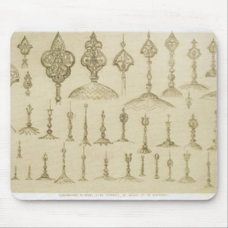 Ornamental knobs shaped as domes and minarets, fro mouse pad