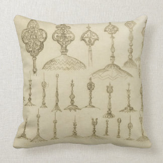 Ornamental knobs shaped as domes and minarets, fro throw pillow