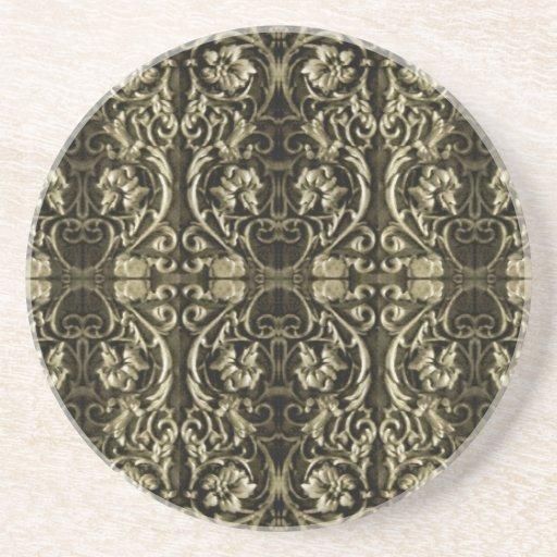 Ornamental Luxury Pattern Beverage Coasters