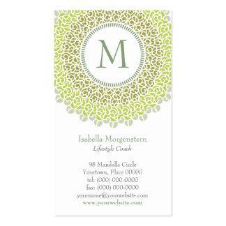 Ornamental Monogram Business Card