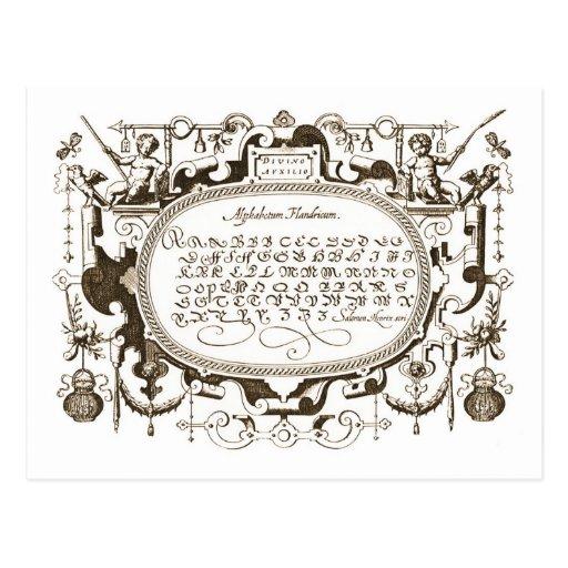 Ornamental page post card