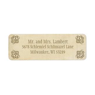 Ornamental Parchment  Customizable Label