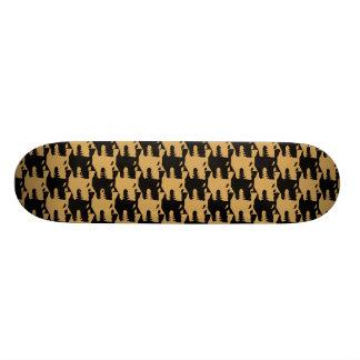 ornamental pattern wolf indomitable skateboard deck