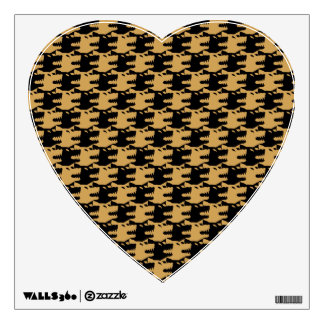 ornamental pattern wolf indomitable wall decal