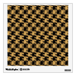 ornamental pattern wolf indomitable wall sticker