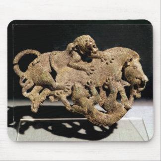 Ornamental plaque depicting a wild boar mouse pad