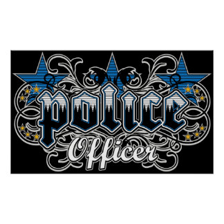 Ornamental Police Officer Poster